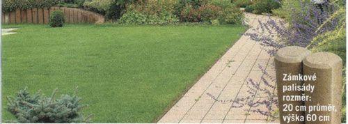 zámkové palisády 20x60 cm