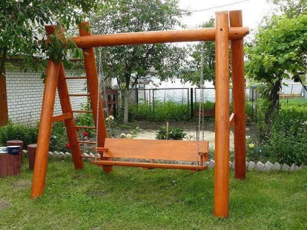 houpačka na zahradu
