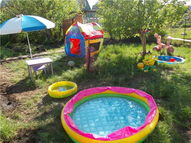 detsky koutek na zahrade - inspirace fotogalerie