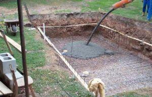 betonování bazénu